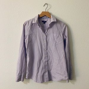 Gap fitted pocket button up blouse